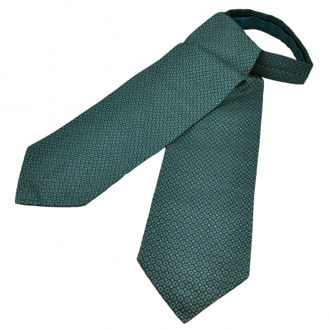 Green, Blue, Silver & Grey Patterned Casual Day Cravat