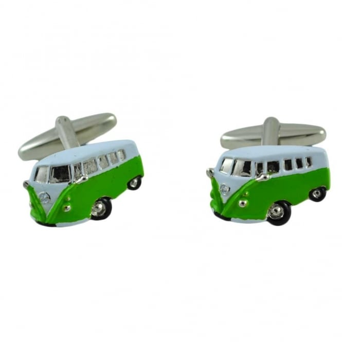 Green Camper Van Cufflinks