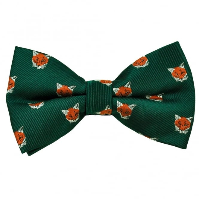 Green Fox Novelty Bow Tie