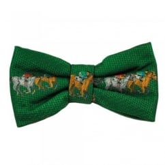 Green Horse Racing Novelty Bow Tie