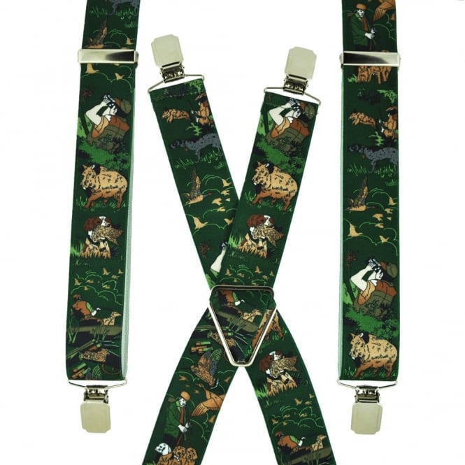 Green Hunting Trouser Braces