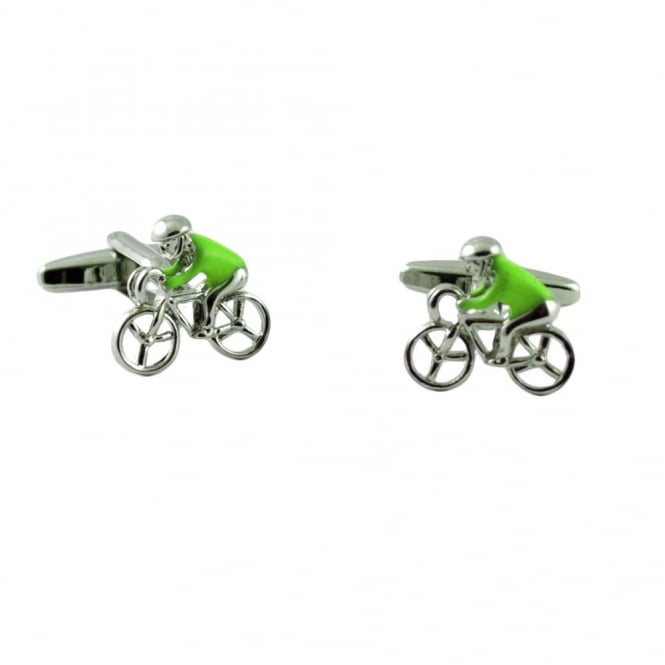 Green Jersey Cycling Novelty Cufflinks