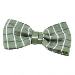 Green, Navy, Blue & White Checked Men's Bow Tie