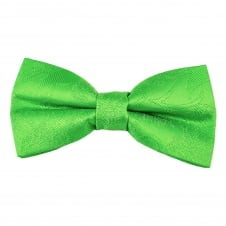 Green Paisley Patterned Men's Bow Tie