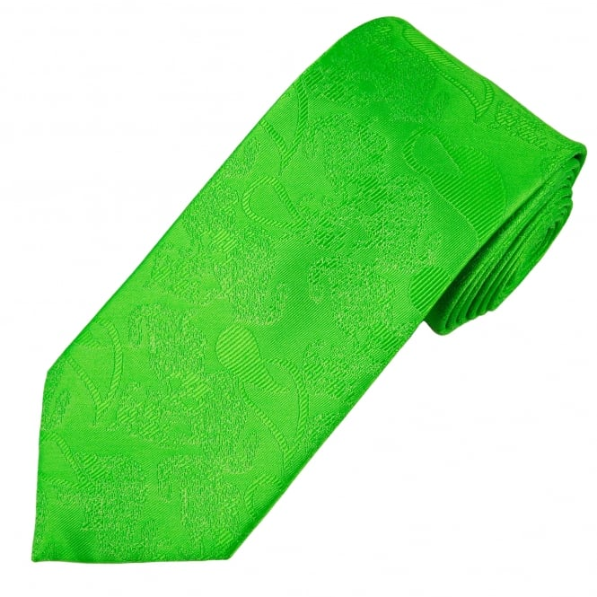 Green Paisley Patterned Men's Tie