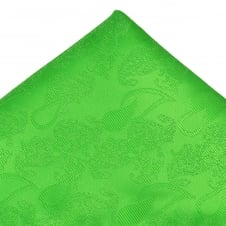 Green Paisley Patterned Pocket Square Handkerchief