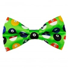 Green Pool Balls Novelty Bow Tie