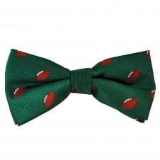 Green Rugby Ball Novelty Bow Tie