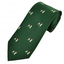 Green Spaniel Dog Country Tie