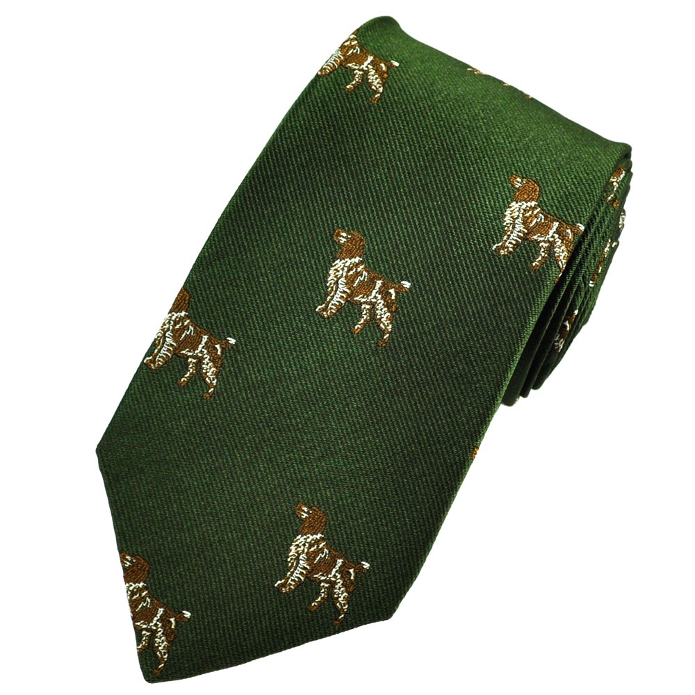 Home › Ties › Country Ties › Green Springer Spaniel Hunting Dogs ...