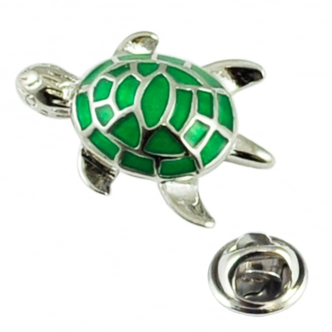 Green Turtle Lapel Pin Badge