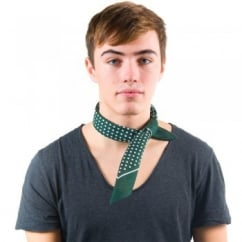 Green & White Polka Dot Bandana Neckerchief