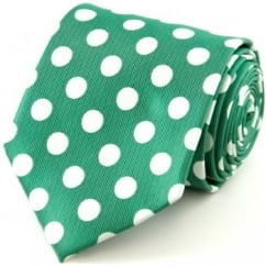 Green & White Polka Dot Tie