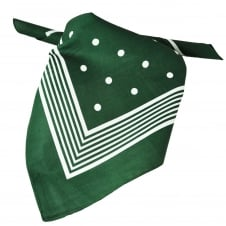 Green With White Stripes & Polka Dot Bandana Neckerchief