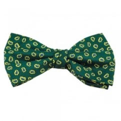 Green With Yellow & Blue Paisley Patterned Men's Bow Tie