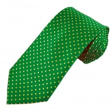 Green & Yellow Polka Dot Men's Tie