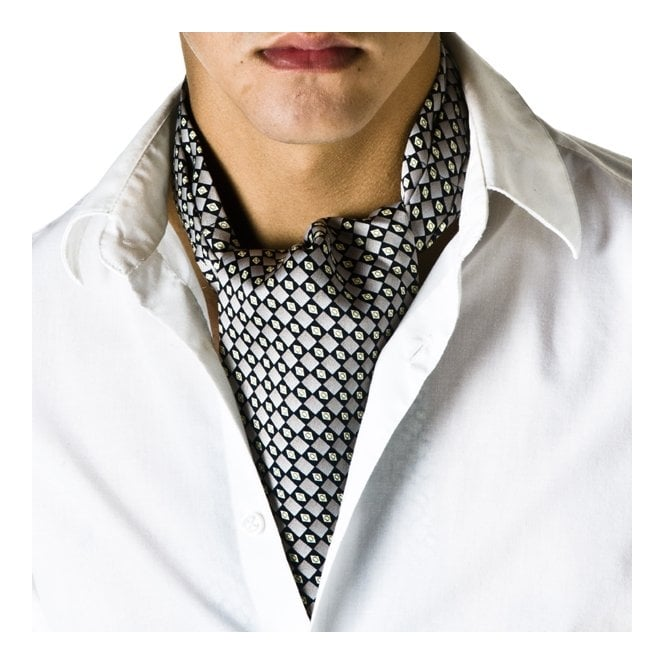 Grey & Black Checked Casual Cravat from Ties Planet UK