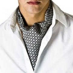 Grey & Black Checked Casual Cravat