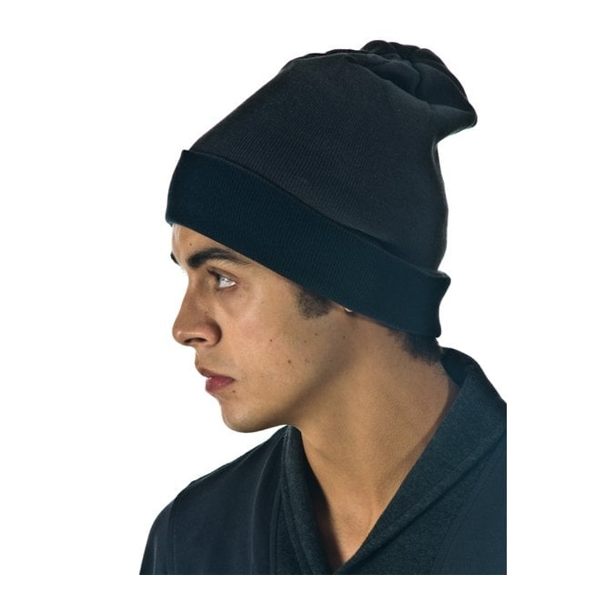 Grey/Charcoal Reversible Oversized Beanie Hat