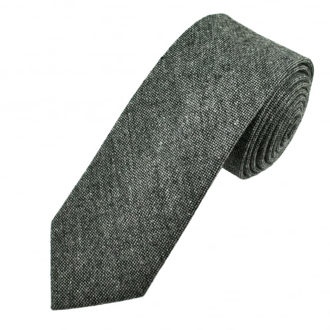 Grey Donegal Style Men's Tweed Tie
