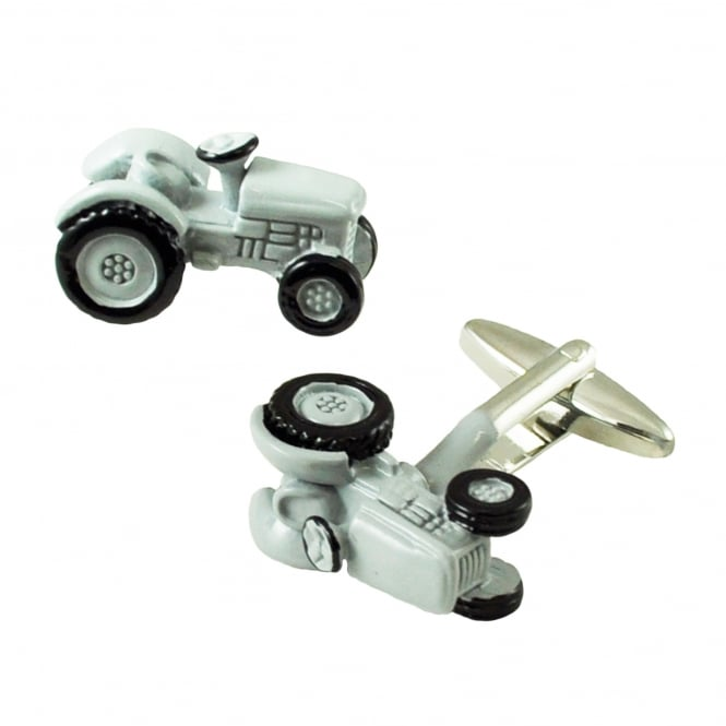 Grey Tractor Novelty Cufflinks