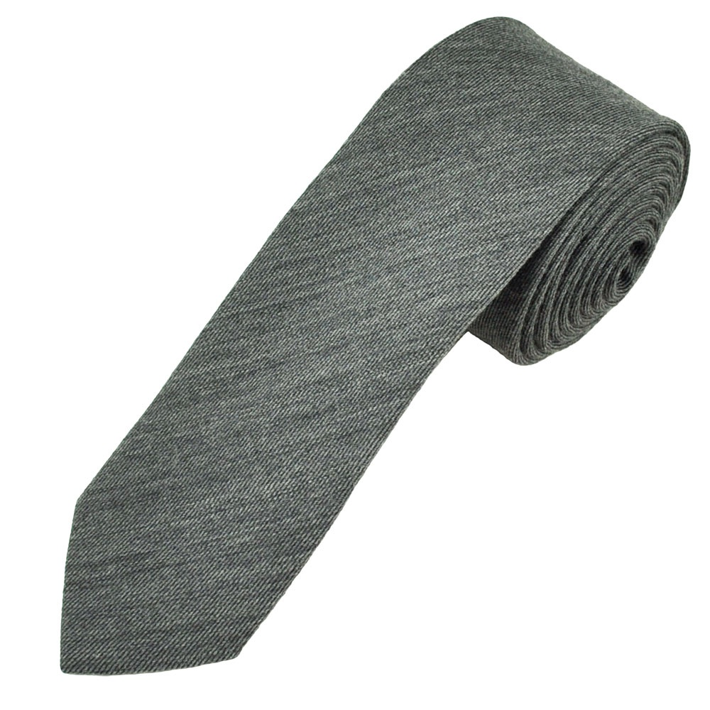 grey wool blend narrow s tie from ties planet uk