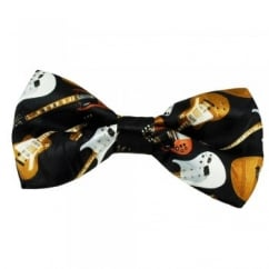 Guitar Black Novelty Bow Tie