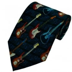 Guitars & Staves Novelty Tie