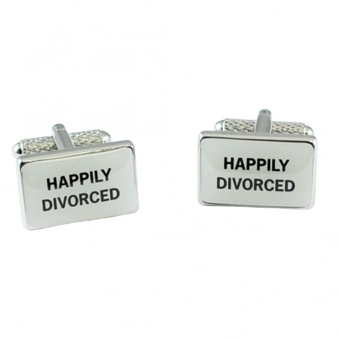 happily divorced novelty cufflinks