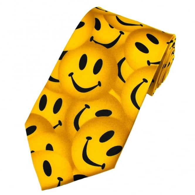 Happy Smiley Yellow Faces Novelty Tie