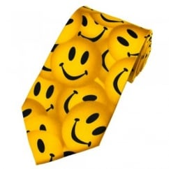 Happy Smiley Yellow Faces Novelty Tie