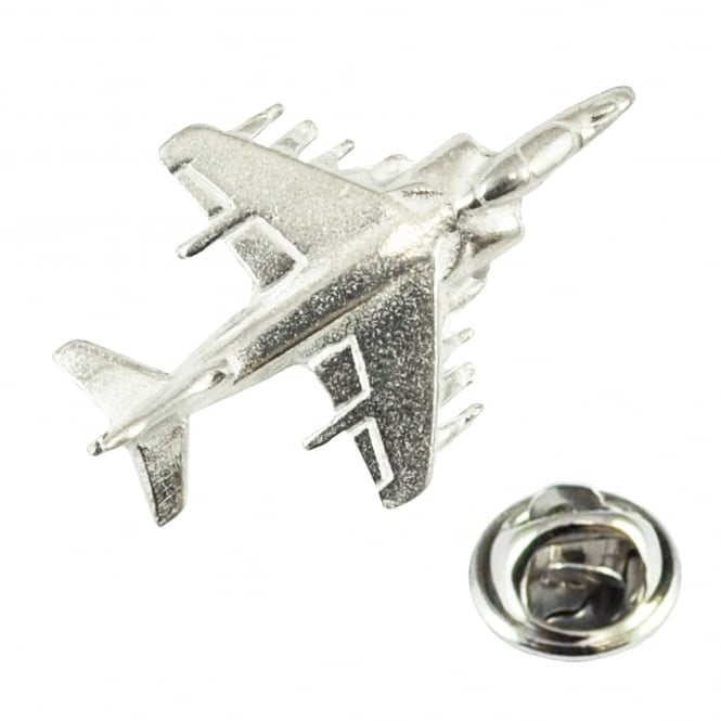 Harrier Aircraft Plane Pewter English Made Lapel Pin Badge