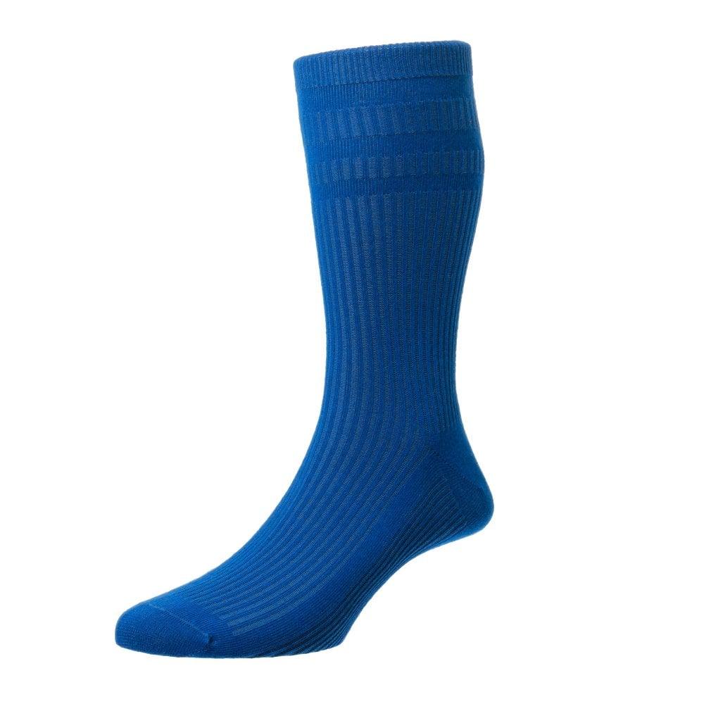 c982d251261 HJ Hall Plain Royal Blue Cotton Softop Men s Socks from Ties Planet UK