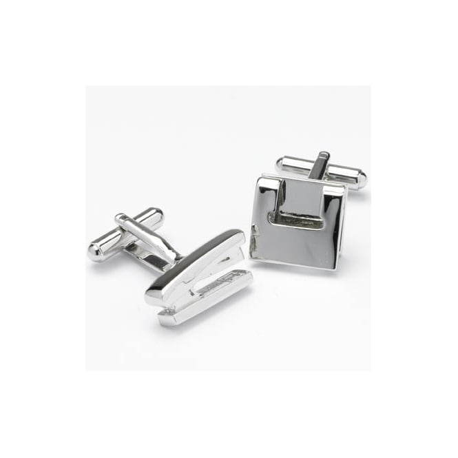 hole punch and stapler novelty cufflinks