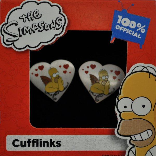 Homer Simpson Valentine Heart Cufflinks