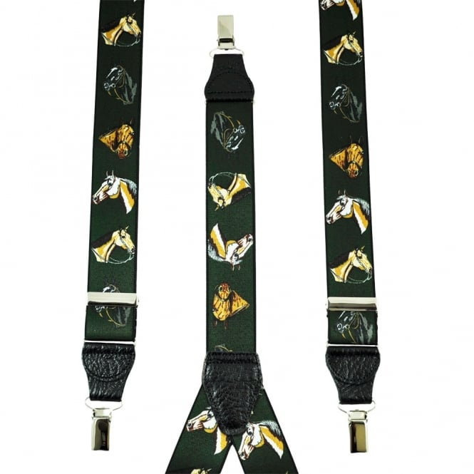 Horse Head Green Men's Trouser Braces