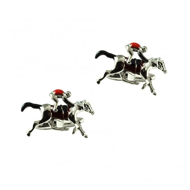 Horse & Jockey Horse Racing Novelty Cufflinks