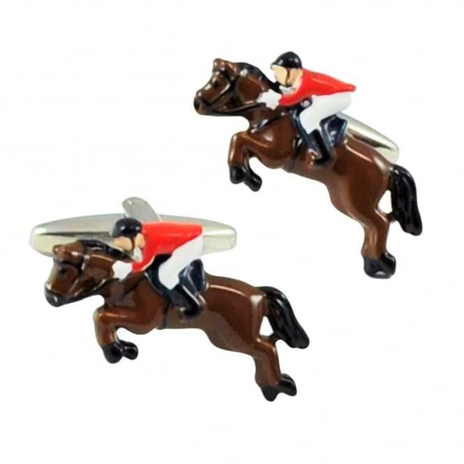Horse Jumping Novelty Cufflinks