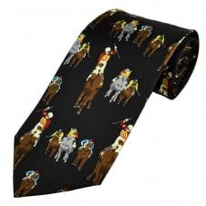 Horse Racing Winner Silk Novelty Tie