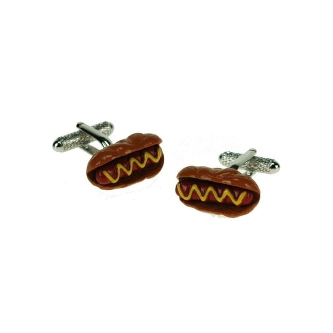 Hot Dog Novelty Cufflinks