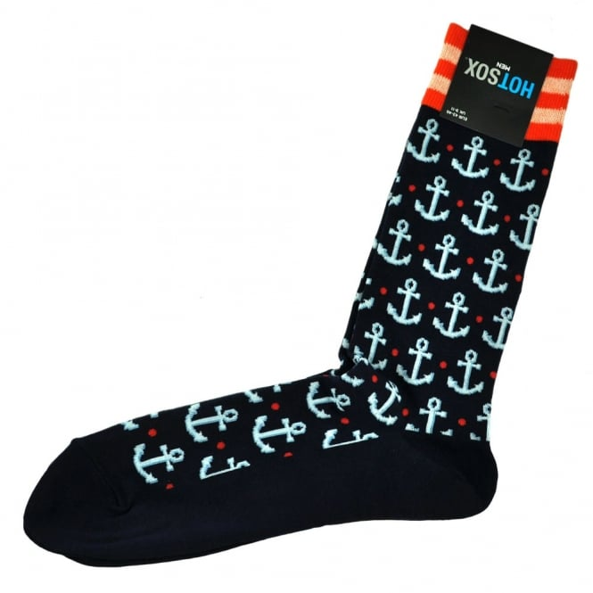 Hot Sox Anchor Navy Blue Men's Novelty Socks