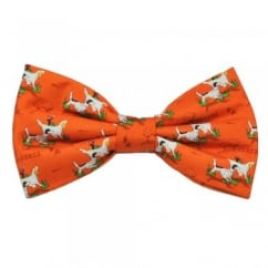 Hunting Dogs Orange Novelty Bow Tie