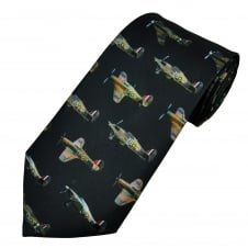 Hurricane Fighter Aircraft Men's Tie