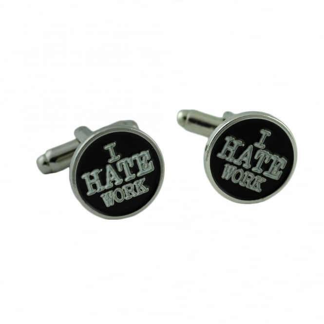 i hate work novelty cufflinks