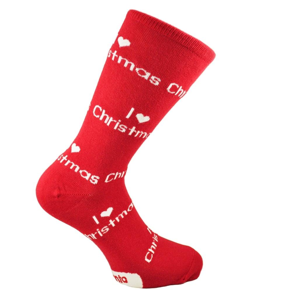 Iheart Christmas.I Heart Christmas Red Women S Novelty Xmas Socks Size 4 8