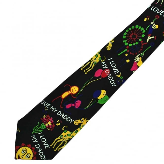 I Love My Daddy Father's Day Novelty Tie