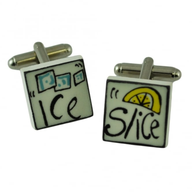 ice and a slice cufflinks