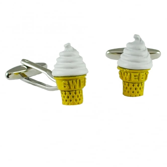 Ice Cream Cone Novelty Cufflinks