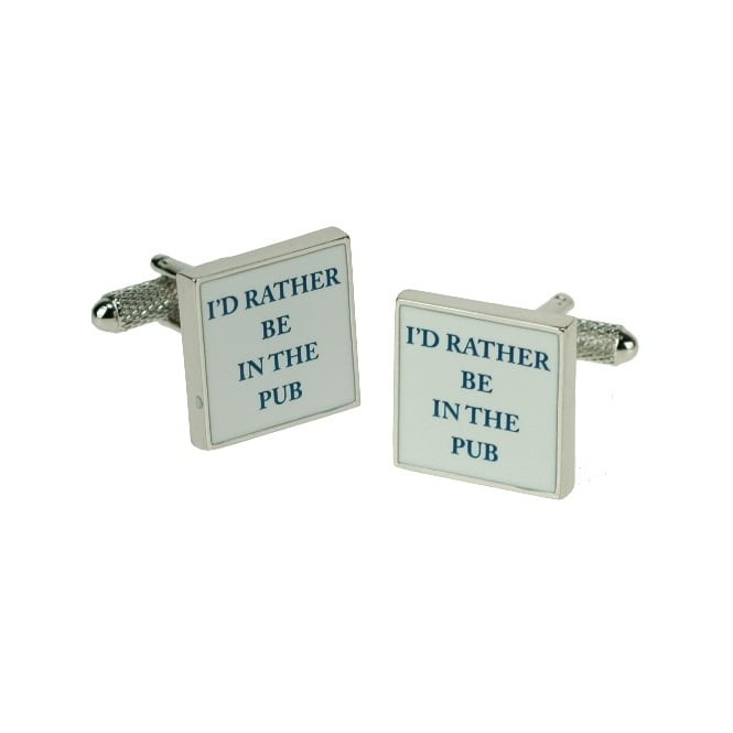 I'd Rather Be In The Pub Novelty Cufflinks