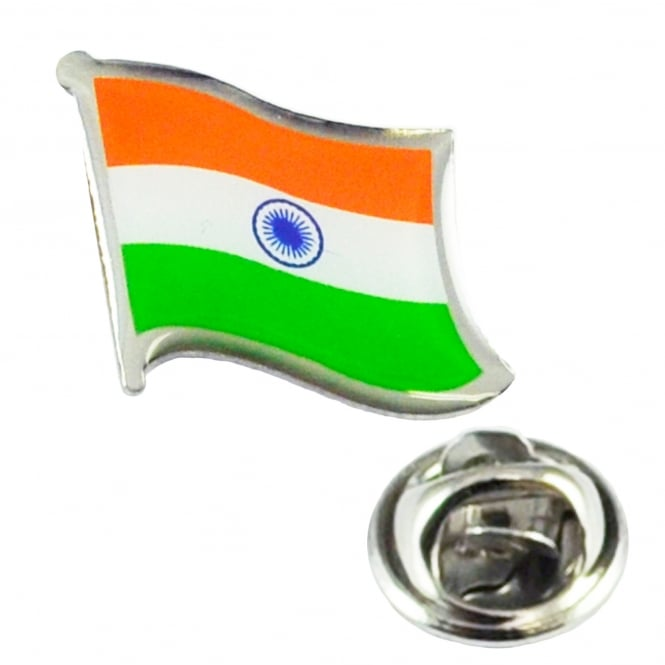 India Flag Lapel Pin Badge